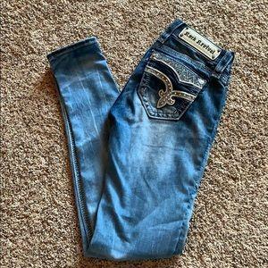 Rock Revival skinny jeans.